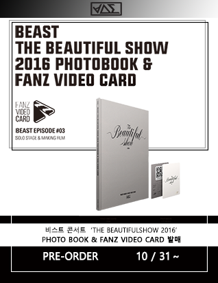비스트 (BEAST) - THE BEAUTIFULSHOW 2016 CONCERT PHOTO BOOK & FANZ VIDEO CARD