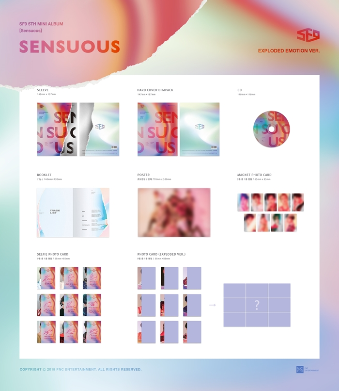 |ALBUM| SF9 - 5th MINI ALBUM SENSUOUS EXPLODED EMOTION VER